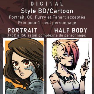 Commande portrait BD